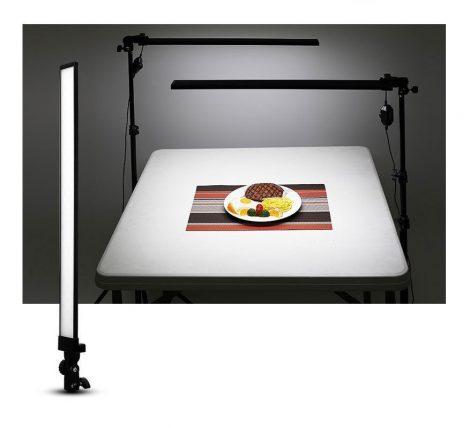 2x30W LED folyamatos, állítható fényerejű stúdió lámpa, 2m állvánnyal
