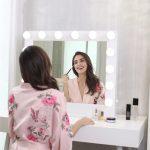 Hollywood tükör (HW-DC117-6) sminkes tükör fehér 14x3W LED sminktükör