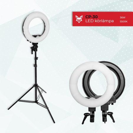 Jackal CP-30 30cm LED körlámpa, körfény 5500K 2m állvánnyal