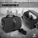 Jackal DarkWorld fotós, fényképező táska fekete-sötétszürke színben