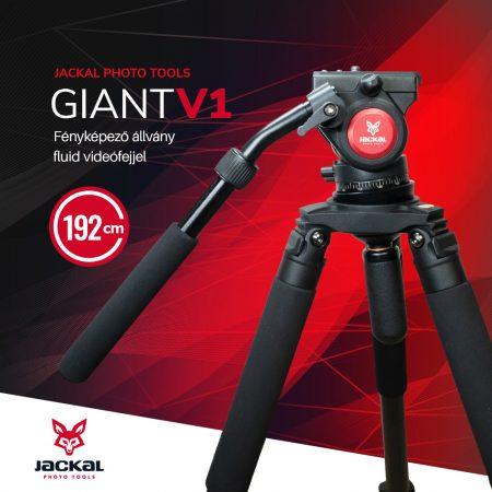 Jackal Giant V1 fluid fejes fényképező állvány (192cm)