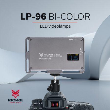 Jackal LP-96 Bi-Color led videólámpa ezüst színben 3000-6500K