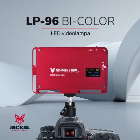 Jackal LP-96 Bi-Color led videólámpa piros színben 3000-6500K