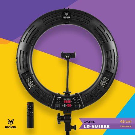 Jackal LR-SM1888 fekete LED körfény, körlámpa, ringlight