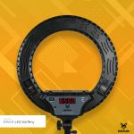 Jackal NWLR fekete 45cm LED körfény, körlámpa, ring light extra stabil állvánnyal