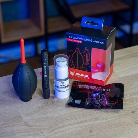 Jackal Pro Clean 4 in 1 Liquid objektív tisztító készlet