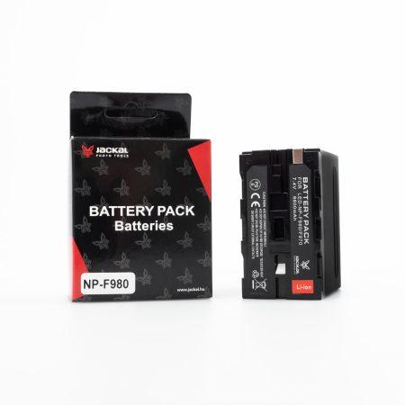 Jackal Sony NP-F980/F970 utángyártott akkumulátor töltöttség jelzővel