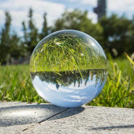 Fotós üveggömb, fotógömb 12cm K9 kristály