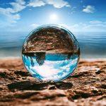 Fotós üveggömb, fotógömb 15cm K9 kristály