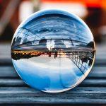Fotós üveggömb, fotógömb 6cm K9 kristály