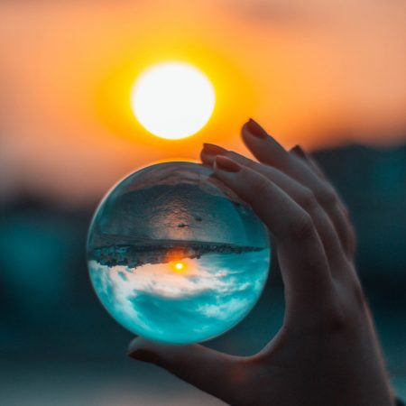 Fotós üveggömb, fotógömb 8cm K9 kristály