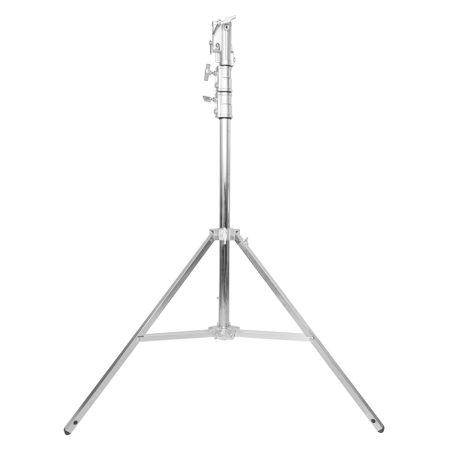 Rozsdamentes acél lámpatartó stúdió állvány 320cm, kitolható spigot fejjel (LT320)