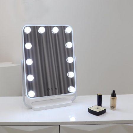 Hollywood tükör, sminkes tükör fehér 12x3W (WH-DWDP330A-WHITE)