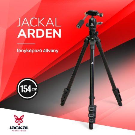 Jackal Arden fényképező állvány 154cm keresztoszloppal
